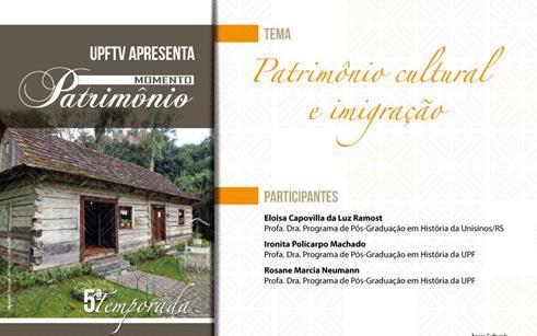 Patrimônio cultural e imigração é tema da próxima edição do Momento Patrimônio
