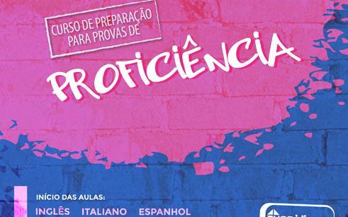 Matrículas abertas para cursos de preparação para provas de proficiência em línguas estrangeiras