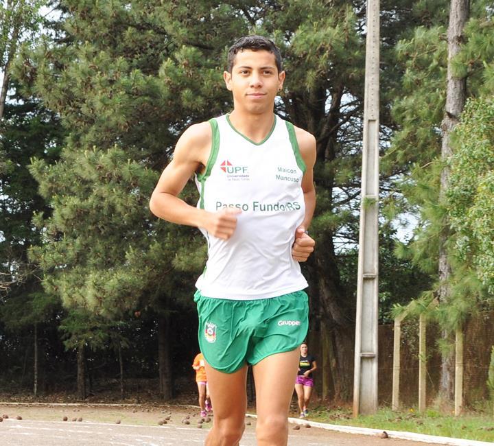 Maicon Mancuso compete em prova internacional